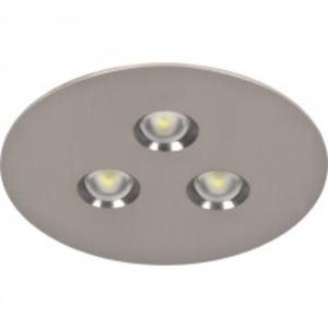 3504.1 LED CG-S weiß, 3504.1 LED CG-S inkl. LED-Versorgung für Deckeneinbau, Blende rund, weiss