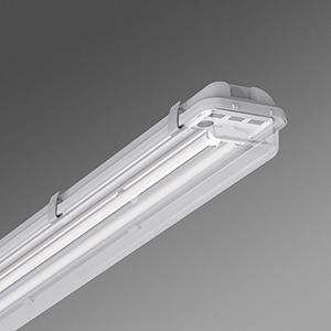 PA 2x58 EVG, Leuchte höherer Schutzart, Diffusor klar, PA 2x58 EVG, 110W(Psys), A(EEC)