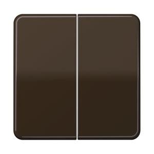 CD 595 BR, Wippe, für Serien-Wippschalter, Serien-Tastschalter, Doppel-Wechsel-Wippsch., Doppel-Wechsel-Tastsch., Doppel-Taster, Multi-Switch und Taster BA 2fach