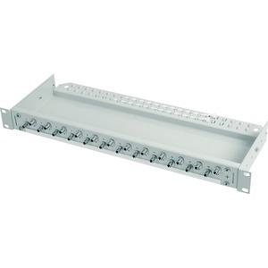 ECONOMY V 1 HE Rangierverteiler mit eingebauten Kupplungen/Adaptern 24xSC Duplex Kupplung