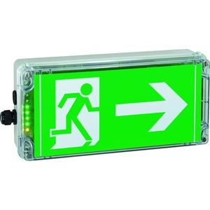 1 2191 030 001, Ex-Notlicht-Rettungszeichenleuchte für Zone 1/21 EXIT N, Pfeil 3h (gemäß DIN 4844), 1 x M20, 1 x M20 Schraubverschluss
