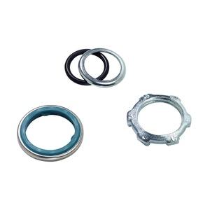 5261, Dichtungsscheibe fuer Verschraubungen, galvanisierter Stahl, verchromt mit blauem Buna-N Gummi, metallic / blau, fuer
