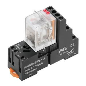 DRMKIT 230VAC 2CO LD/PB, Relaiskoppler, 230 V AC, LED rot, 2 Wechsler mit Prüftaste (AgNi 0,15 µm Au) , 250 V AC, 10 A, Schraubanschluss