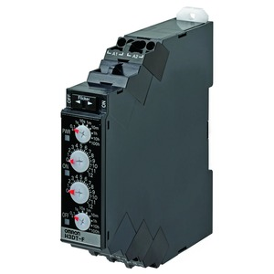 H3DT-F 24-240VAC/DC, Zeitrelais, DIN-Hutschienenmontage, 17.5mm, Twin, 1-120s, 1 Wechsler, 5A, 24-240V AC/DC, Push-In
