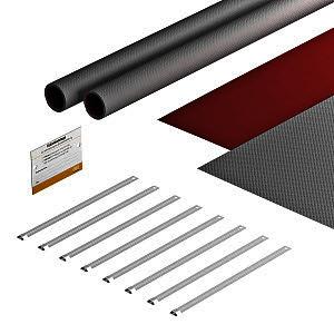 FSB-K82, Bandagenset für Photovoltaik 550x880, grau / rot