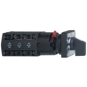 Voltmeter-Umschalter, 3L und 3L-N, 45°, 10A, für Ø 16 oder 22mm
