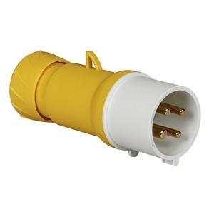 CEE Stecker, Schraubklemmen, 32A, 3p+E, 100-130 V AC, IP44