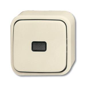 2601/6 SKAP, Wipp-Kontrollschalter, weiß, Aufputz trocken, Busch-Duro 2000 AP