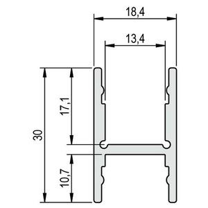 Profil Aluminium BARDOLINO H 1m