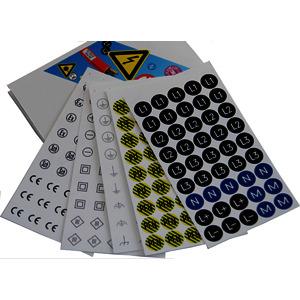 TPCIP-C, Leiterkennzeichnung im Taschenbuch Sortiment, Größe : 20mm Durchmesser 1800 Plak Preis per VPE  VPE =1