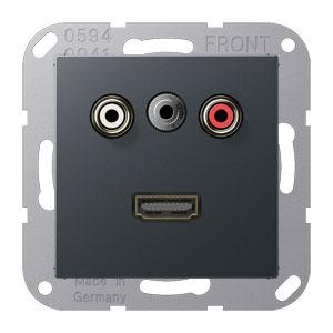 MA A 1082 ANM, Cinch Audio, Miniklinke3,5mm und HDMI, Tragring, Schraubbefestigung, bruchsicher