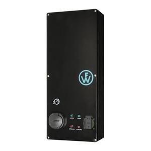 Wallbox SLIM-LINE KEY mit 2 Ladepunkten 1x Typ2 16A/11kW und 1x Schuko 16A/3,7kW, elektronischen Zähler und Premium-Monitoring-98210018