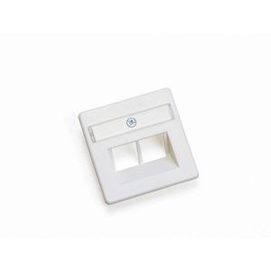 BK ZPCAT6 rws, Zentralplatte Datendose RAL9010 15x50x50