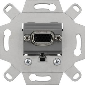 VGA-Anschlussdosen-Einsatz 1-fach, mausgrau