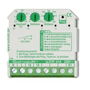 UZR U4 (230V AC), Multifunktions-Zeitrelais 230V AC (UP), 1 Wechsler 10A
