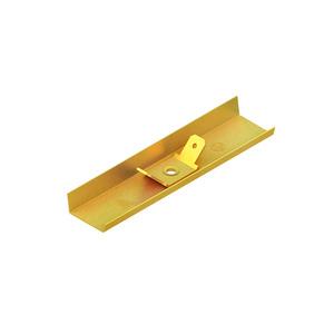 LSTA 16.016, Stoßstellenverbinder mit Flachstecker, für Höhe 16 mm, Breite 16 mm, Messing