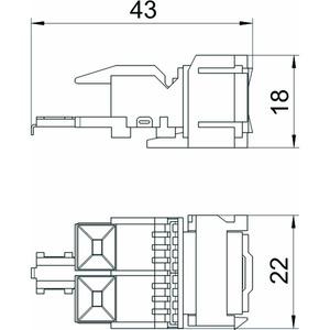 ASM-C5 S, Anschlussmodul CAT 5 Snap-In ungeschirmt