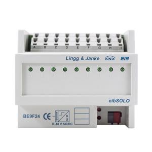 KNX standard Binäreingang 9-fach, Signaleingang 24V AC/DC, 6 TE;