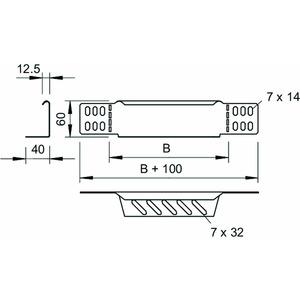 RWEB 615 A2, Reduzierwinkel/ Endabschluss für Kabelrinne 60x150, V2A, A2