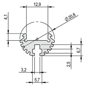 Profil Aluminium PINO HP 1m