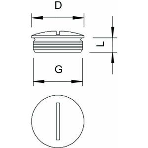 168 MS PG 7, Verschlussstopfen PG7, CuZn, N
