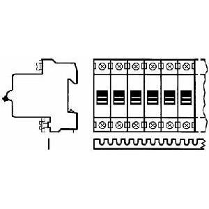 SZ-KS1/56, Kammschiene 1-phasig, 12mm², Pinanzahl 56, blank