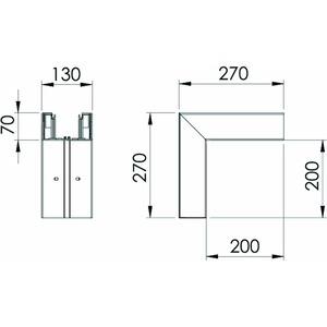 GK-A70130CW, Außeneck 70x130mm, PVC, cremeweiß, RAL 9001