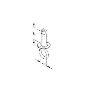 HS 10/40, Deckenhaken, Gewinde M5, Länge 40 mm, Stahl, galvanisch verzinkt DIN EN ISO 2081/4042, blaupassiviert