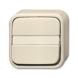 2601/6 NAP, Wippschalter, weiß, Aufputz trocken, Busch-Duro 2000 AP