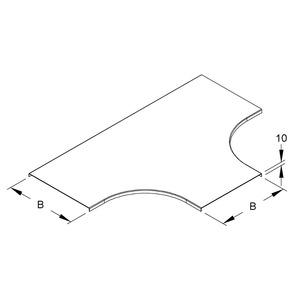 RTSD 300, Deckel für T-Stück für KR, Breite 304 mm, Stahl, bandverzinkt DIN EN 10346