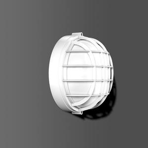 Rechteck-, Oval-, Rundleuchten Alu-Rund weiss 100 W, 58110.002