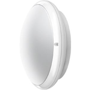 DUNE CFL 2X9W WEIß, Wand- und Deckenleuchte Dune CFL 2x9W Weiß aus Polycarbonat, IP54, IK10, Schutzklasse II