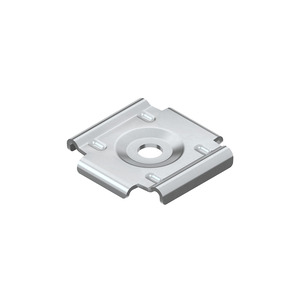 GRWB 10 E3, Wand- und Bodenbefestigungsplatte, Edelstahl, Werkstoff-Nr.: 1.4301, 1.4303