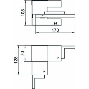 GS-SI70110RW, Inneneck vereinfacht symmetrisch 70x110mm, St, reinweiß, RAL 9010