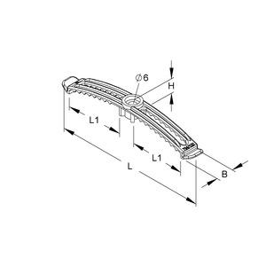 794/200, Kabelbügel, für Kabel-Ø 8,8-14,3 mm, Länge 219,5 mm, Kunststoff POM, Farbe weiß