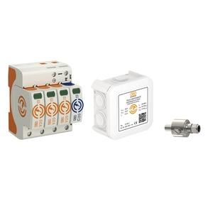OBOX-WG T2+TK+TV, Überspannungsschutzpaket Energie Telekommunikation SAT