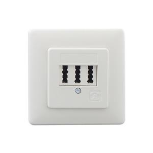 TAE 2x6/6 NFF Up rw, Anschlussdose 3x6-polig Unterputz für 2 Telefone und 1 Zusatzgerät reinweiss