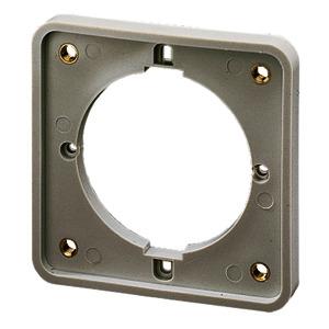 40102, Flansch für Kabelkanal je 4 Schrauben M 5x1