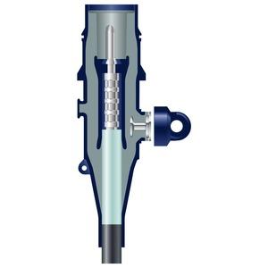 RSSS-5225-R, Stecker, geschirmt, gerade, 20kV für Außenkonus 250A. 1L-Kabel 50 mm²