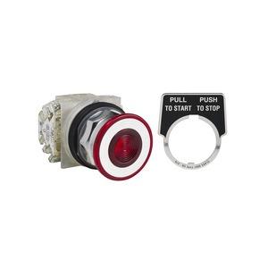 Drucktaster, rot, o. Leuchtmelder Typ K, Ø30, tastend, rastend, 2S+2Ö