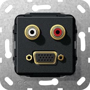 C-Audio VGA 15-p Kpl. Einsatz Schwarz m