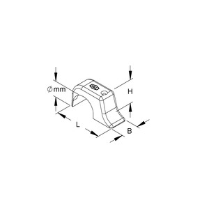 1568, TOP-Nagelschelle, ohne Nagel, für Kabel-Ø 14-17 mm, Kunststoff PE, RAL 7035, lichtgrau