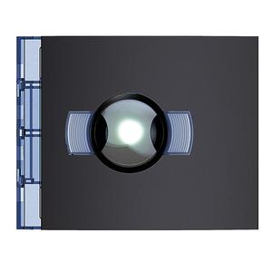 Video-Abdeckung für Night & Day-Weitwinkel-Videokamera ohne Ruftasten. Allstreet