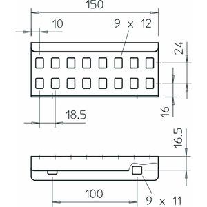 LVG 60 FT, Längsverbinder für Kabelleiter 64x150, St, FT