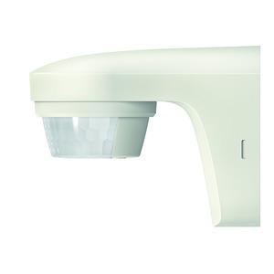 theLuxa S180 WH, Bewegungsmelder für Wandmontage, Lichtsteuerung, 180°, max. 12 m, weiß, IP 55