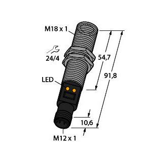 M18TB6EQ, Temperatursensor, Infrarotsensor