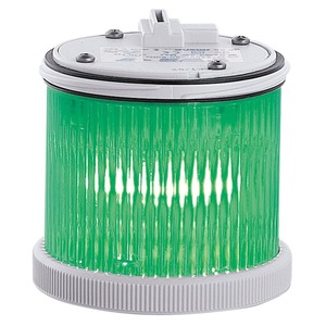 TWSFMT12240DA grün, Signalsäulenmodul TWS 75mm Dauerlicht Glühlampe 12-240VACDC grau