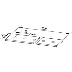 LS25X3, Lochschiene L=2025mm, B=25mm