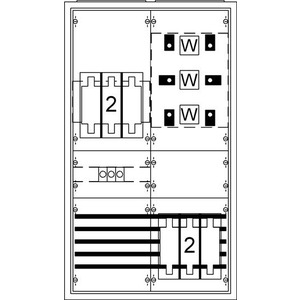 KS402SB, Wandlerschrank Aufputz RAL 9016