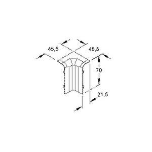 SFI70.3, Inneneck 90°, 70x21,5 mm, Kunststoff ASA, RAL 9010, reinweiß